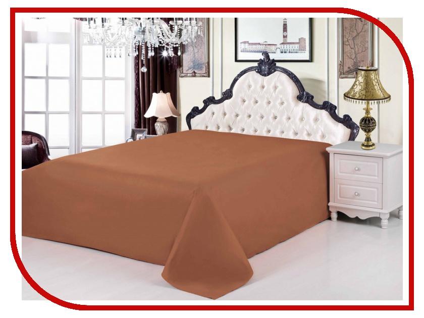 Простынь Valtery PRC-04 220x240 Сатин Chocolate