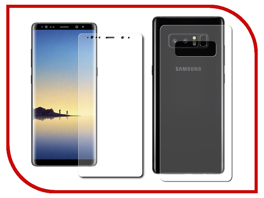 Аксессуар Защитная плёнка для Samsung Galaxy Note 8 Monsterskin Super Impact Proof 360 2in1 Front&Back аксессуар защитная плёнка для samsung galaxy s7 monsterskin super impact proof 360