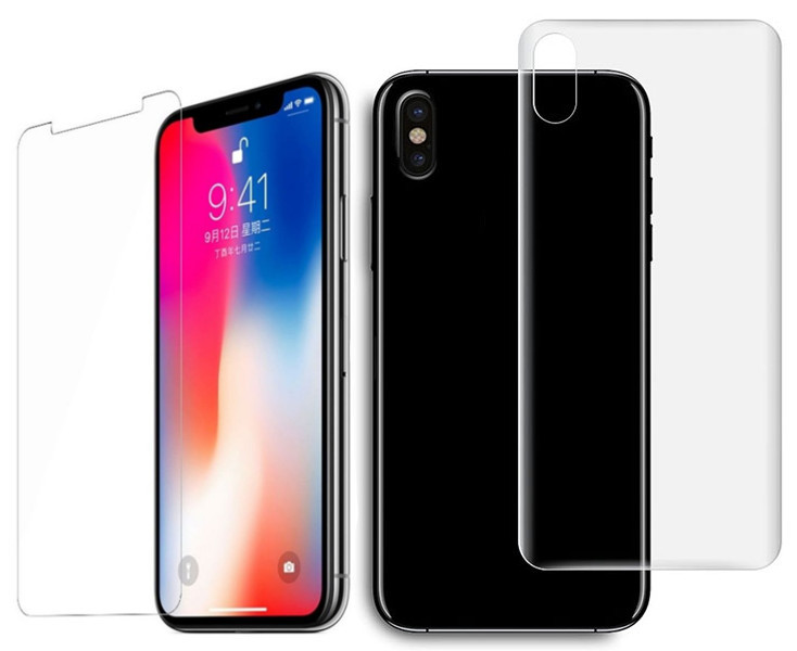 Защитная плёнка Monsterskin Super Impact Proof 360 2in1 Front&Back для APPLE iPhone X аксессуар защитная плёнка для samsung galaxy note 5 monsterskin anti blue ray