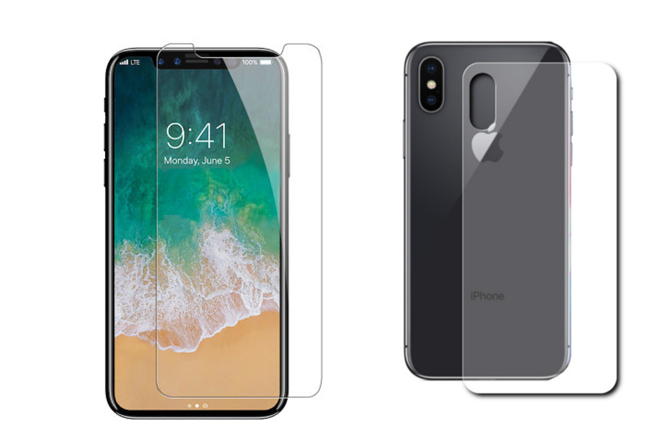 Защитная плёнка Monsterskin Super Impact Proof 360 2in1 Front&Back для APPLE iPhone 8 Plus аксессуар защитная плёнка для samsung galaxy note 5 monsterskin anti blue ray