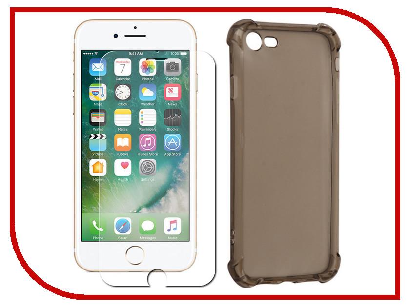 Аксессуар Чехол-накладка Monsterskin для APPLE iPhone 7 Силиконовый Black аксессуар защитное стекло monsterskin 5d для apple iphone 7 black