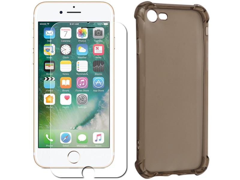 Аксессуар Защитное стекло + накладка Innovation для APPLE iPhone 7 Silicone Black 10007 аксессуар чехол накладка innovation для apple iphone 7 plus силиконовый black 10029