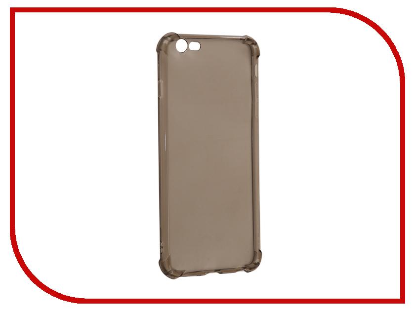 Аксессуар Чехол-накладка Monsterskin для APPLE iPhone 6 Plus Силиконовый Black аксессуар чехол elari для elari cardphone и iphone 6 plus blue