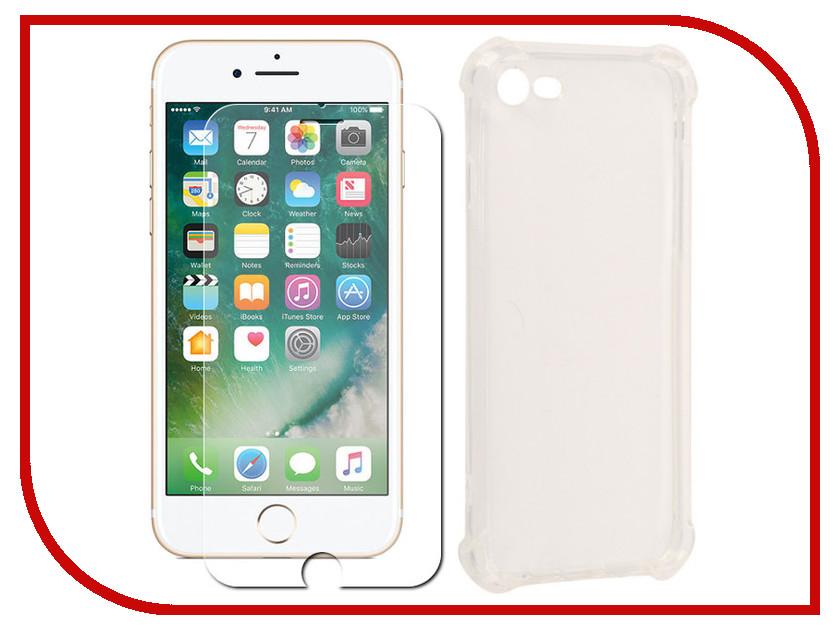 Аксессуар Защитное стекло + накладка для APPLE iPhone 7 Innovation Silicone Transparent 10009 круг алмазный bosch expert for stone 230x22 сегмент 2 608 602 592