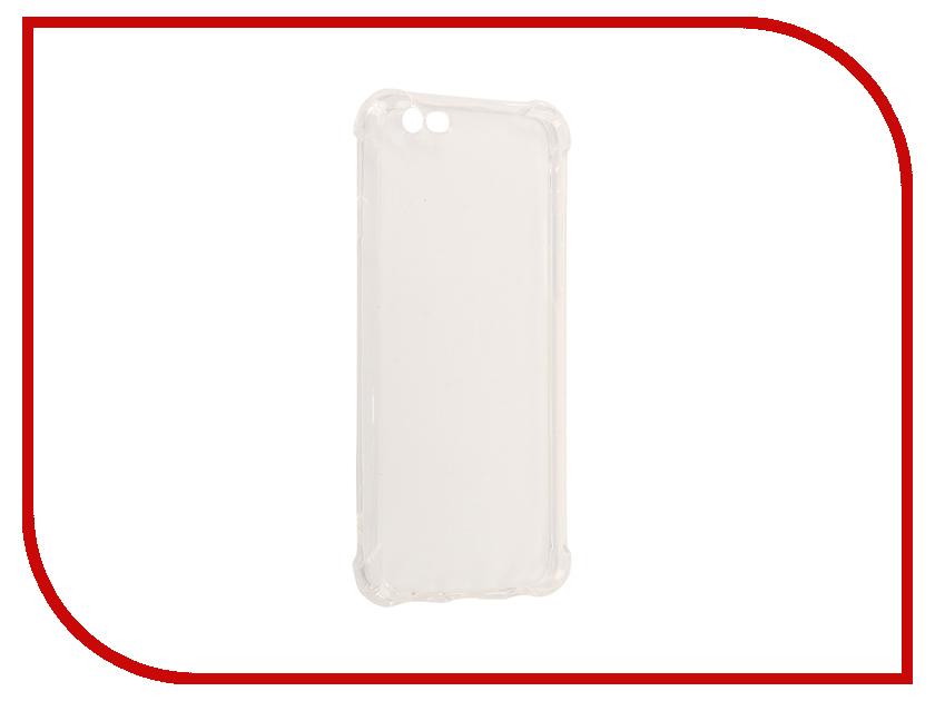 Аксессуар Чехол-накладка Monsterskin для APPLE iPhone 6 Силиконовый Transparent аксессуар защитное стекло monsterskin 3d pc glass для apple iphone 6 plus black
