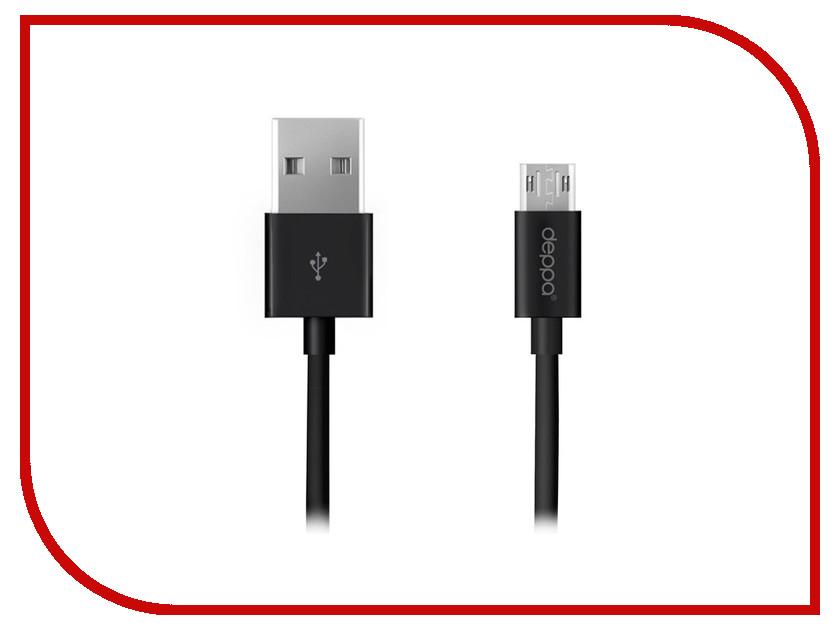 Аксессуар Deppa USB - microUSB 1.2m Black DEP-72211 аксессуар deppa usb type c microusb dep 73116