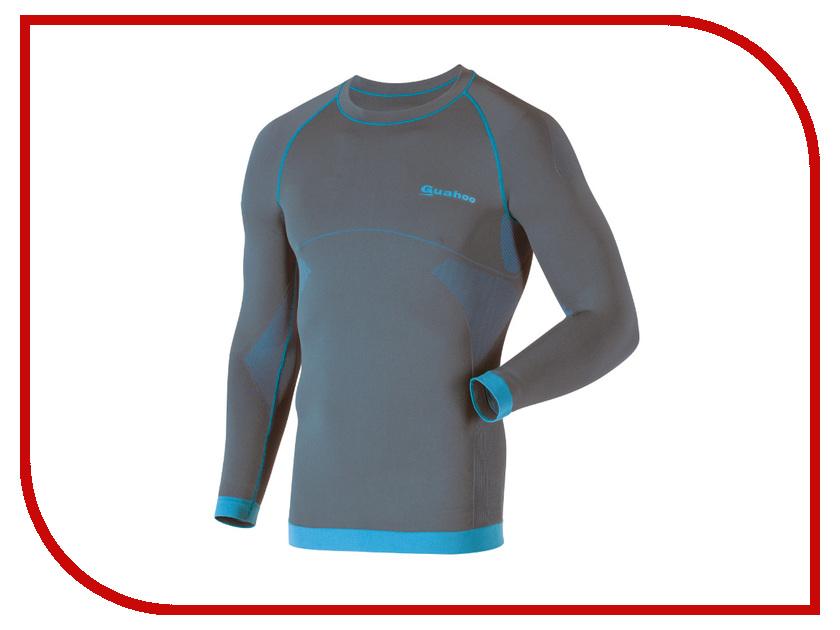 Рубашка GUAHOO Sport Light XS-S Gray-Turquoise G23-1600S термоноски guahoo sport mid weight 150 cf bk