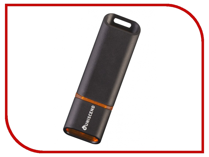 USB Flash Drive 16Gb - Uniscend Slalom 3.0 Black-Orange 5942.26