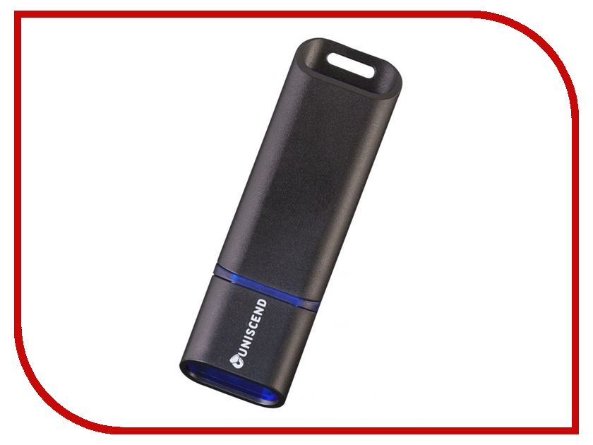 USB Flash Drive 16Gb - Uniscend Slalom 3.0 Black-Blue 5942.46 uniscend logo power ace 3000 mah