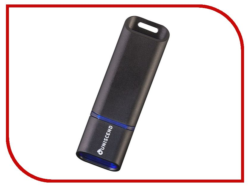 USB Flash Drive 8Gb - Uniscend Slalom Black-Blue 5942.48 uniscend logo power ace 3000 mah