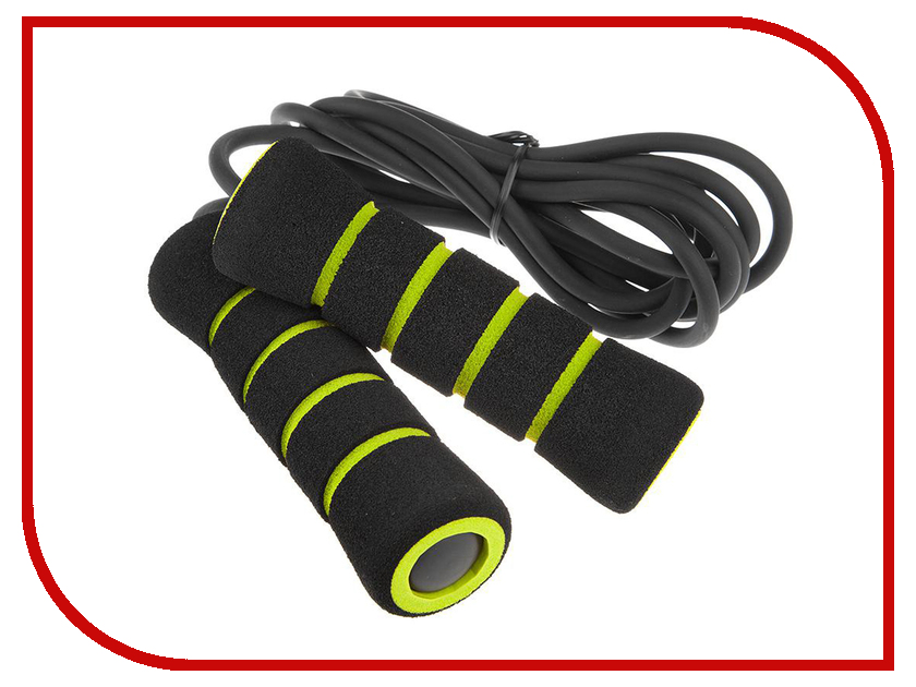 Скакалка Mad Wave Skip Rope PVC Black-Green M1321 02 0 00W скакалка mad wave wooden skip rope brown m1321 04 0 00w