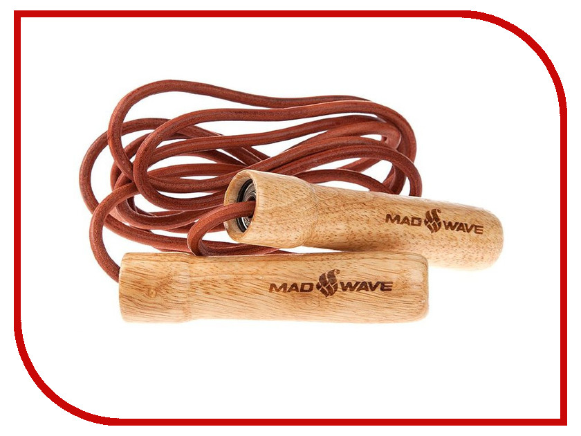 Скакалка Mad Wave Wooden Skip Rope Brown M1321 04 0 00W скакалка mad wave wooden skip rope brown m1321 04 0 00w