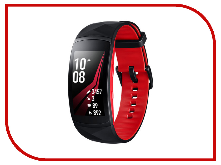 Умный браслет Samsung Gear Fit 2 Pro S Black-Red SM-R365NZRNSER цена и фото