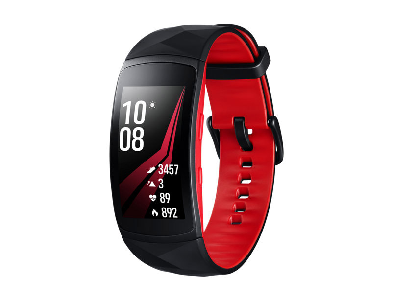 Умный браслет Samsung Gear Fit 2 Pro S Black-Red SM-R365NZRNSER умный браслет rover rovermate fit 05 yellow