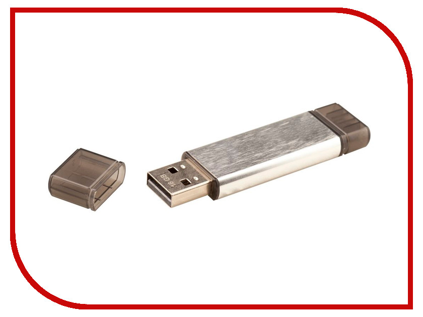 USB Flash Drive 16Gb - Uniscend Doubles Silver 5945.16 uniscend logo power ace 3000 mah