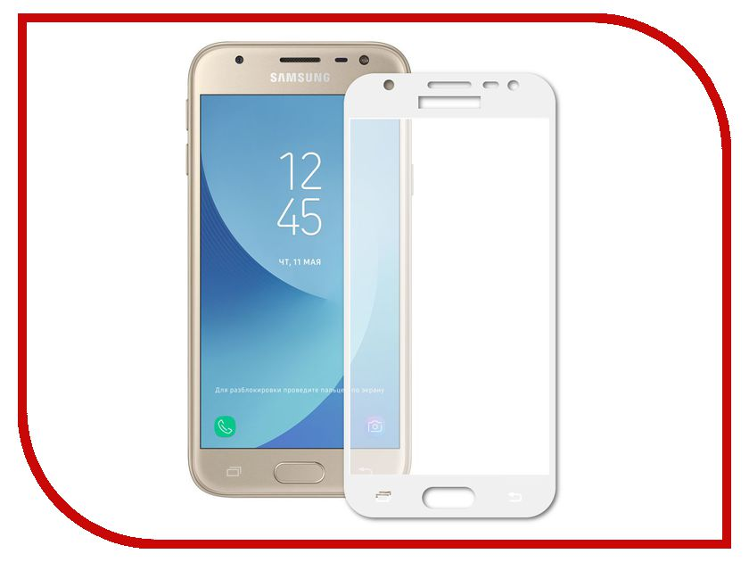 Аксессуар Защитное стекло Samsung Galaxy A5 2017 Pero 2.5D White аксессуар защитное стекло samsung galaxy a3 2017 solomon full cover black