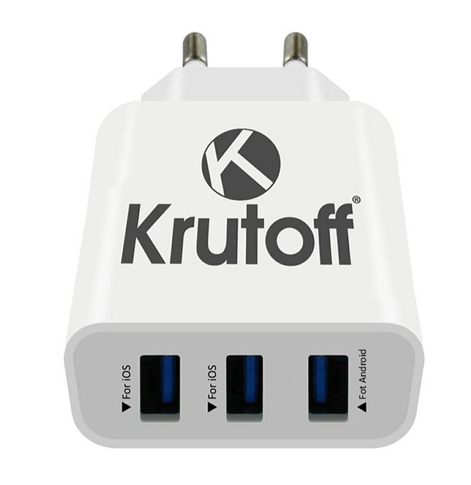 Зарядное устройство Krutoff CH-19 3xUSB 3.1A 02181