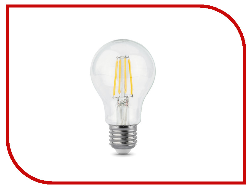 Лампочка Gauss LED Filament A60 E27 10W 4100K 102802210 цена