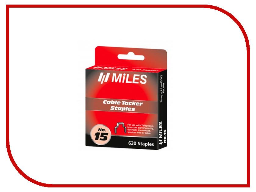 Скобы Miles 4мм 630шт N15-4mm