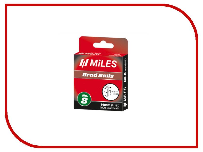 Скобы Miles 14mm 1000шт N8-14mm