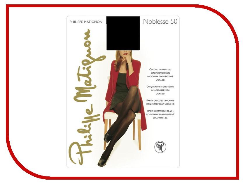Колготки Philippe Matignon Noblesse размер 4 плотность 50 Nero гольфы philippe matignon premiere 20 mi bas nero черные размер m l