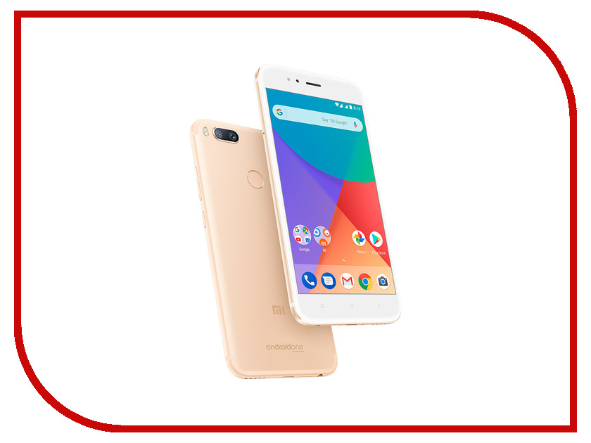 Сотовый телефон Xiaomi Mi A1 64Gb Gold сотовый телефон xiaomi mi note 3 64gb black