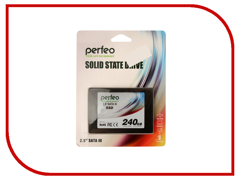Жесткий диск 240Gb - Perfeo SSD 2.5 SATA-III TLC PFSSD240GTLC