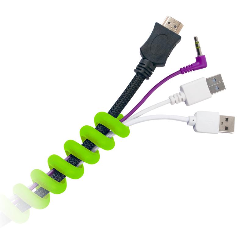 Органайзер кабельный Belsis Пружина Green CM1201G