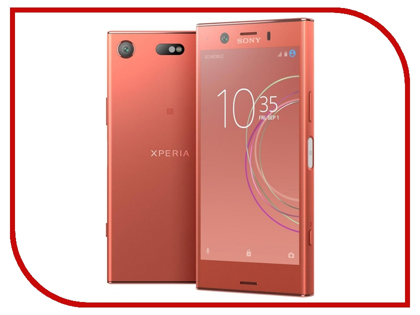 Сотовый телефон Sony G8441 Xperia XZ1 Compact Pink for sony xperia xz1 compact full side 2 5d high definition explosion proof toughened glass film