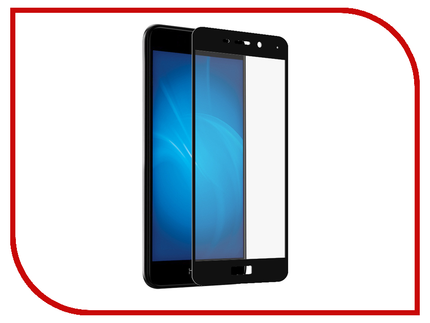 для Huawei Huawei Honor 6C Pro  Аксессуар Защитное стекло Huawei Honor 6C Pro Red Line Full Screen 3D Tempered Glass Black
