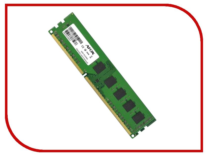 Модуль памяти AFOX DDR3 DIMM 1600MHz PC3-12800 - 8Gb AFLD38BK1P crucial 8gb ddr3 1600mhz цена