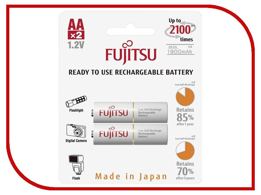 Аккумулятор AA - Fujitsu HR-3UTCEU (2B) 1900 mAh (2 штуки) аккумулятор d minamoto r20 8000 mah nimh 2 штуки