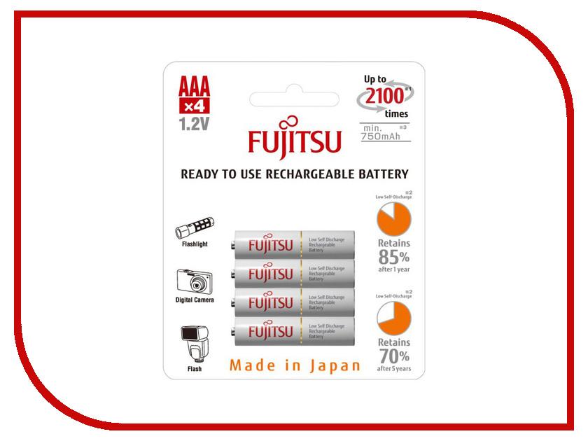Аккумулятор AAA - Fujitsu HR-4UTCEU (4B) 750 mAh (4 штуки) hr 3uaeu fujitsu siemens