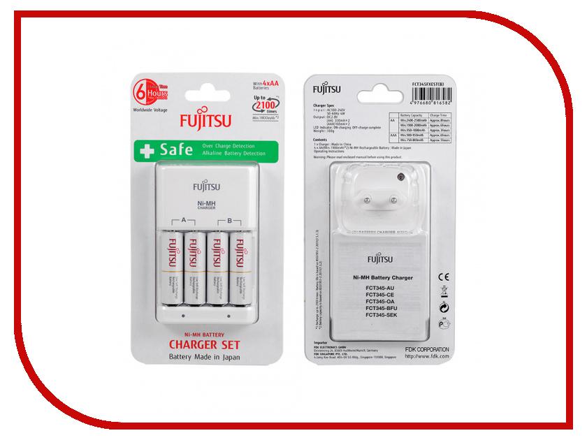 Зарядное устройство Fujitsu FCT345-CEFX (CL) + 4 ак. AA/AAA 1900mAh HR-3UTCEX hr 3uaeu fujitsu siemens