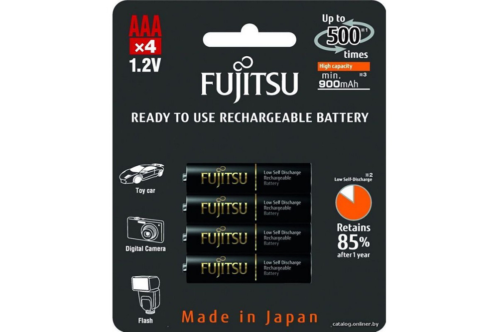 Аккумулятор AAA - Fujitsu HR-4UTHCEU (4B) 900mAh (4 штуки) FDKB00008