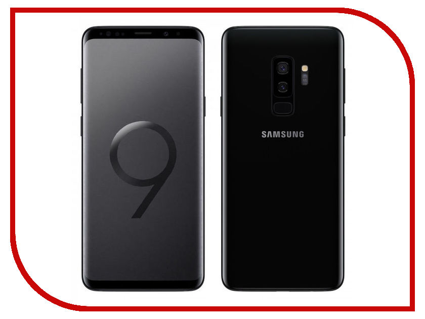 Сотовый телефон Samsung SM-G965F Galaxy S9 Plus 64Gb Black сотовый телефон samsung sm g955fd galaxy s8 plus 64gb black