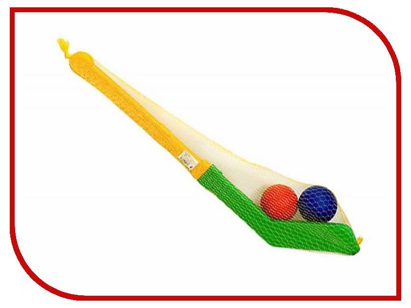 Игрушка Омская фабрика игрушек Клюшка с двумя мячами в сетке 0280