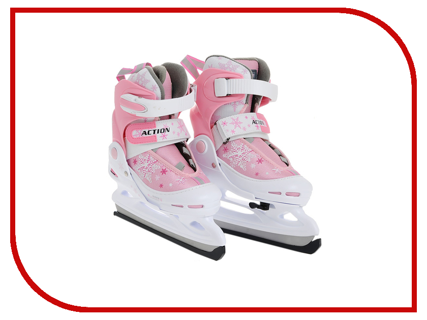 Коньки Action PW-211F-1 38-41 Pink-White