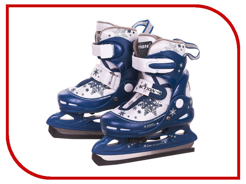 Коньки Action PW-211F-2 р.38-41 Blue-White action pw 117ce m 34 37 blue