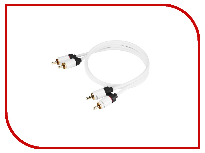Аксессуар Real Cable 2RCA-1 1m кабели межблочные аудио tchernov cable classic mk ii ic rca 1 65m
