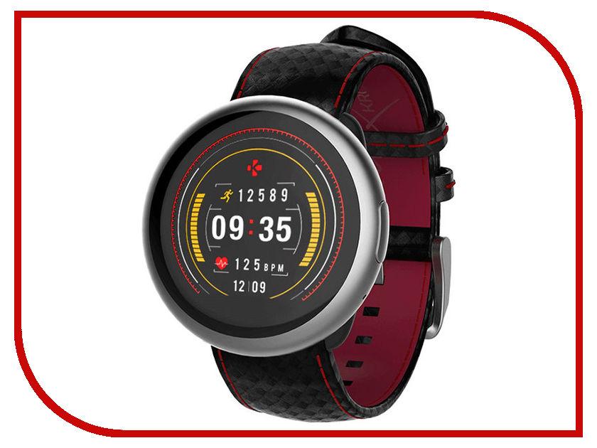 Zakazat.ru: Умные часы MyKronoz ZeRound2HR Premium Silver-Black-Red