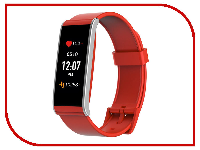 Умный браслет MyKronoz ZeFit4HR Red-Silver умные часы mykronoz zetime premium regular rose gold brown