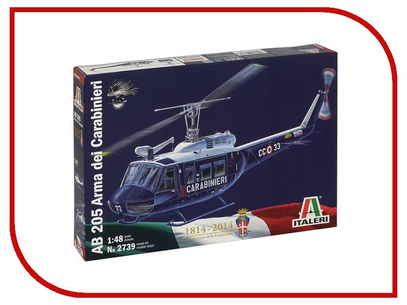 Сборная модель Italeri Вертолёт AB-205 2739 вертолёт моделист ан 64а