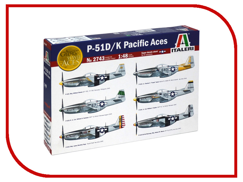 Сборная модель Italeri Самолёт P-51 D/K Pacific ACES 2743 pocket aces