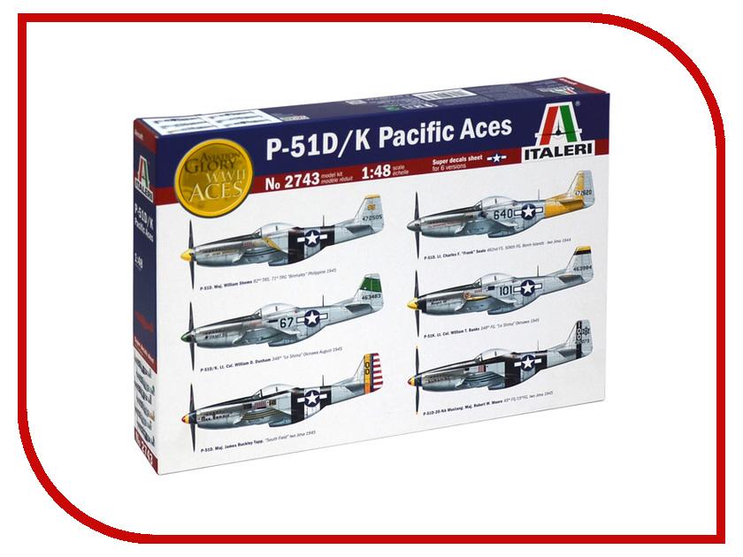 Сборная модель Italeri Самолёт P-51 D/K Pacific ACES 2743 pocket aces
