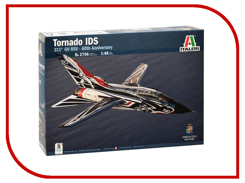 Сборная модель Italeri Военный Самолёт Tornado IDS 60 GVRS 2766 компрессор tornado ac580 original case