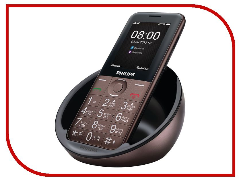 Сотовый телефон Philips E331 Xenium Brown philips xenium e570