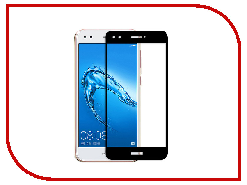 Аксессуар Защитное стекло Huawei Nova Lite Media Gadget Full Cover Glass Black MGFCGHNLBK аксессуар защитная пленка универсальная media gadget premium 5 глянцевая mg264