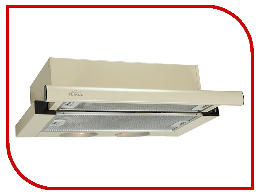 Кухонная вытяжка Elikor Интегра 60П-400-В2Л КВ II М-400-60-260 Cream встраиваемая вытяжка elikor интегра 60 крем крем