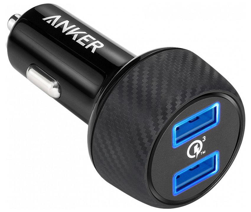 цены Зарядное устройство Anker PowerDrive 2XUSB 39W Black A2228H11